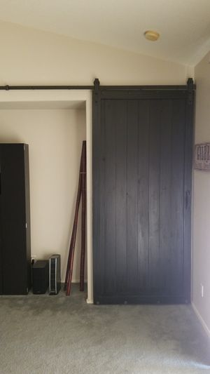 """45""""x97"""" Espresso Barn door. Originally cost for this was $2,500 not including installation, it's yours for $1000. Call Jason {contact info removed} for Sale in Gilbert, AZ"""