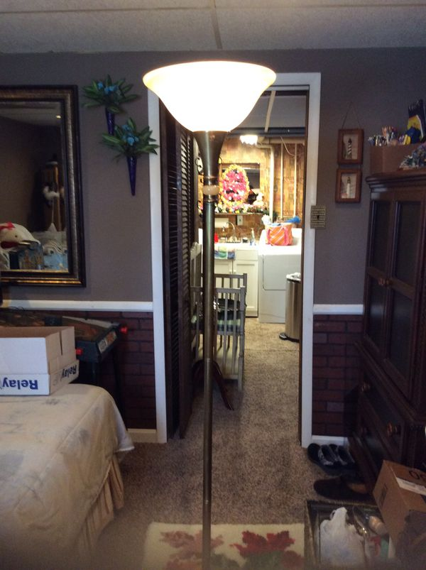 TALL GOLD FLOOR LAMP CAN BE YOURS FOR $20.00