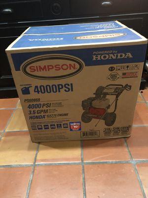 Simpson pressure washer 4000 psi for Sale in Pembroke Pines, FL