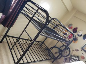 Black bunk bed, twin size for Sale in The Bronx, NY