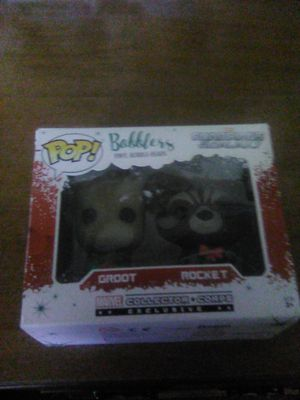 Collectible Groot and rocket raccoon pops for Sale in Covina, CA
