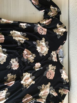Plus sized black floral dress for Sale in Tracy, CA