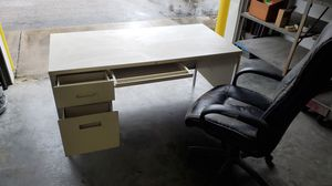 Office/warehouse desk and chair for Sale in Virginia Beach, VA