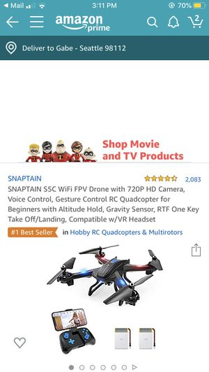SNAPTAIN DRONE for Sale in Seattle, WA