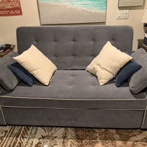 Queen Size Pull Out Sofa With Two Outlets And Two USB for Sale in San Diego, CA