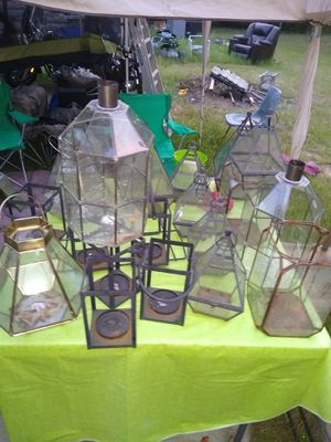 Candle or plant glass hangers for Sale in Tyler, TX