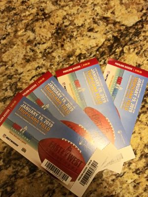 East vs west game at the trop tomm for Sale in Tampa, FL