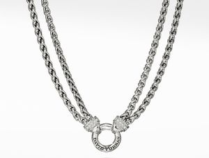 David Yurman Double Wheat Chain Necklace with Diamonds for Sale in Irvine, CA