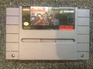 Super Nintendo SNES Super Castlevania IV(4) for Sale in Atlanta, GA