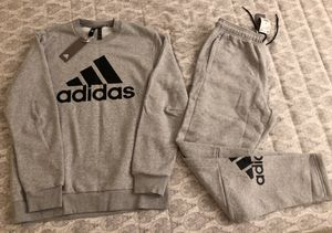 Adidas Tracksuit Set Size M Light Gray for Sale in Las Vegas, NV