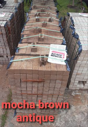 Brick-Ladrillos mocha brown antique for Sale in Houston, TX