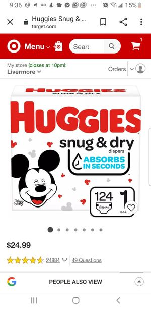 Huggies Size 1 Snug & Dry - 124 ct for Sale in Livermore, CA