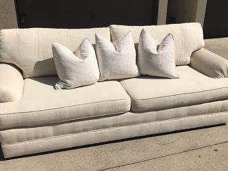 LIKE NEW Cream Fabric Sofa Couch for Sale in Huntington Beach,  CA