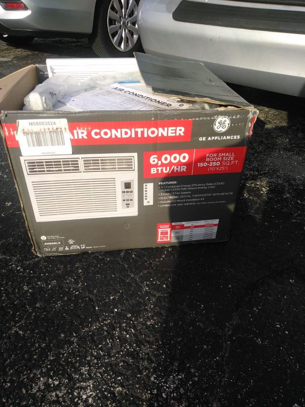 6,000 btu ge window AC