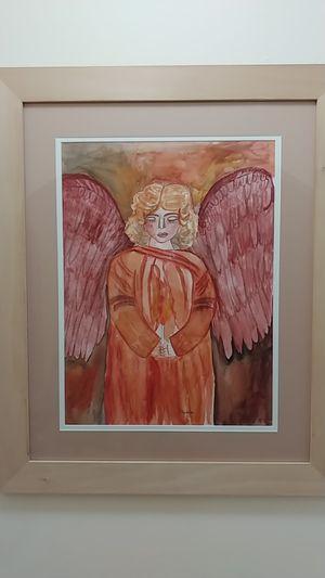 The angel. Original Watercolor by Nimia. for Sale in Miami, FL