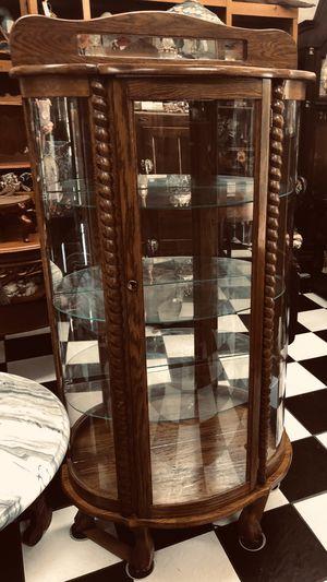 Antique 1800's - 1900 Tiger Oak Curio. for Sale in Tampa, FL