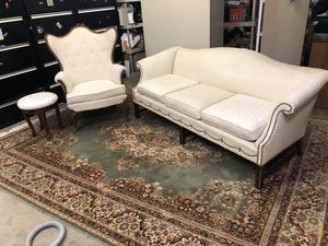 Vintage couch, stool& chair by temple very nice clean , smoke free for Sale in Crimora, VA