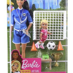 New Barbie Soccer Coach Playset With 2 Dolls And Accessories for Sale in Spring, TX