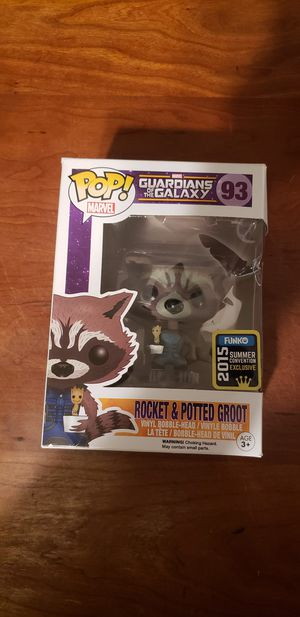 2015 summer convention exclusive rocket and potted Groot for Sale in San Diego, CA
