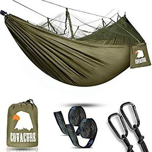 Covacure Camping Hammock with Net - Lightweight Double Hammock, Portable Hammocks for Indoor, Outdoor, Hiking, Camping, Backpacking, Travel, Backyard for Sale in Syosset, NY