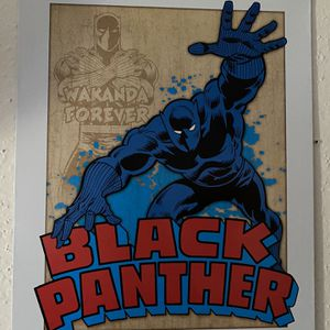 Black Panther Metal Sign for Sale in Pinellas Park, FL