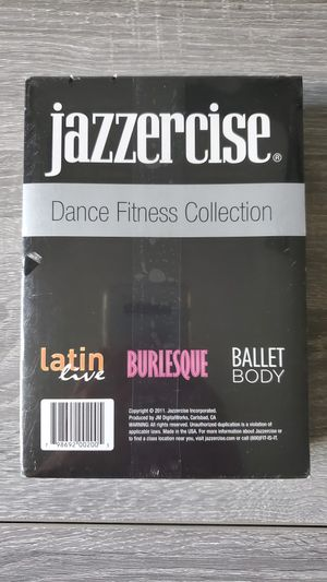 JAZZERCISE Dance Fitness Collection 3 DVD Ballet Body,Burlesque Latin! Brand New for Sale in Lutz, FL