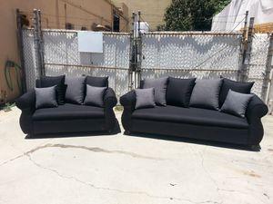 NEW DOMINO BLACK FABRIC COUCHES for Sale in La Mesa, CA