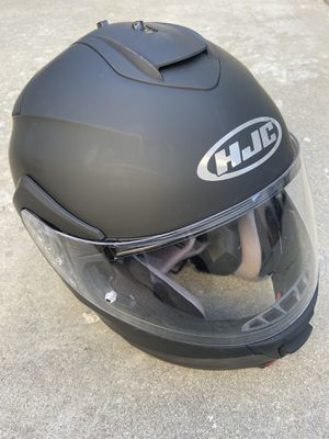 HJC Motorcycle Helmet Flat Black with Visor New Large for Sale in Cypress, CA