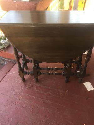 Antique drop leaf table with secret drawer. for Sale in Portland, OR