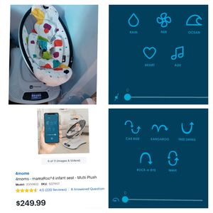 4Moms mamaroo infant Swing with Bluetooth connection to control movements and sounds from your Phone..new costs $250 plus tax for Sale in South Gate, CA