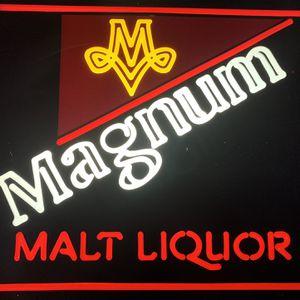 Vintage 1982 Magnum Malt Liquor Miller Brewing Company USA Light Up Sign Man Cave for Sale in Beaverton, OR