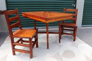 Rustic Tiki Table + 2 Chairs for Sale in Traverse City, MI