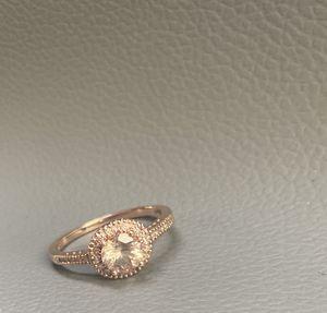14k morganite stone with diamonds size 7 for Sale in Arvada, CO