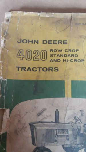 John deer Tractor manual 4020 for Sale in Valparaiso, IN