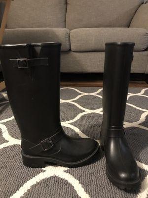 Aldo black rubber rain boots! Size 9 for Sale in Swissvale, PA