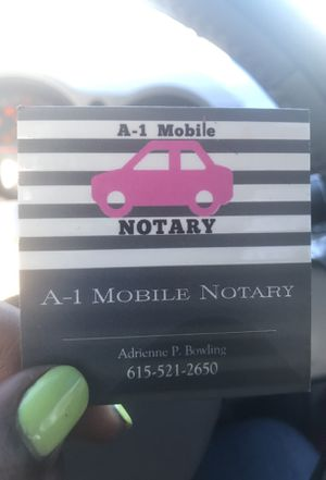 A-1 Mobile Notary for Sale in Nashville, TN
