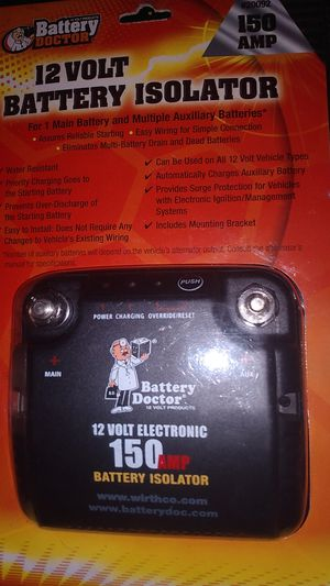 Battery doctor 12 volt battery isolater for Sale in Imperial Beach, CA