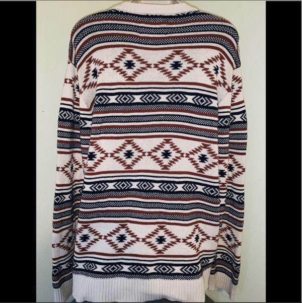 American Rag Cie tribal crewneck sweater for sale !!!