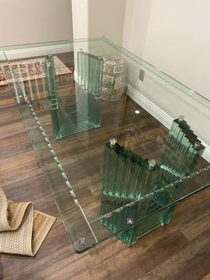 Glass Dining Table, Seats 6, 72Lx42Wx30H for Sale in Irvine, CA