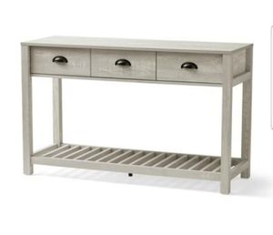 Console Table With Drawers, European Oak Finish for Sale in Phoenix, AZ