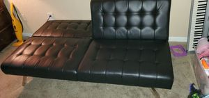 Mainstays Morgan Futon, Brown Faux Leather for Sale in Palm Springs, FL