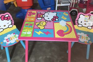 Hello kitty table set for Sale in Florissant, MO