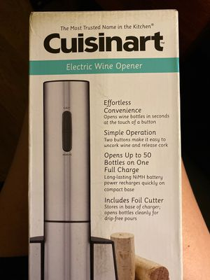 Brand New Cuisinart Electric Wine Opener for Sale in Santa Rosa, CA