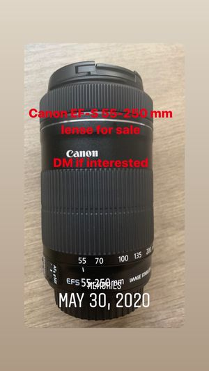 Canon EF-S 55-250 mm lense for Sale in Chelsea, MA