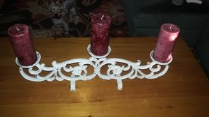 Vintage Shabby Chic Wrought Iron Candle Holder Stand for Sale in Anaheim, CA