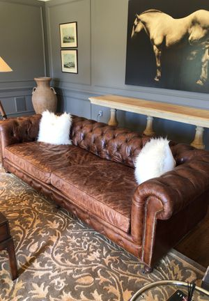 Couch, sofa leather Restoration Hardware for Sale in Leesburg, VA