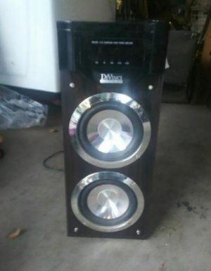 Divinci DR1000 5.1CH Surround Audio Power Amplifier/Subwoofer, Has 2 sub woofers installed in the amplifier itself for Sale in Riverside, CA
