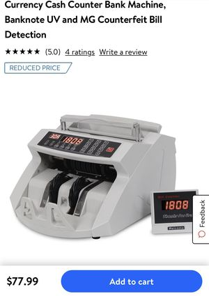 Bill counter and counterfeit bill detection for Sale in Ontario, CA