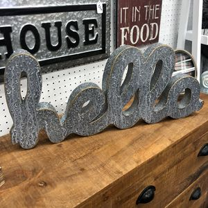 """Brand New Metal Hello Tabletop or Wall Sign (Dimensions: 28""""x12"""") for Sale in North Las Vegas, NV"""