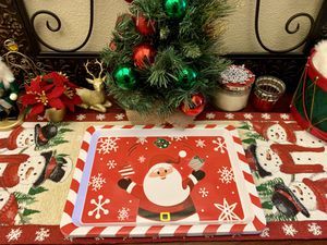 Holiday/Winter themed melamine serving tray for Sale in Clovis, CA